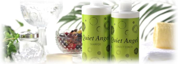 プロテオグリテン Quiet Angel シャンプー 500ml 原料はすべて植物由来のオリジナルシャンプー!癒やしを与えるベルガモット香りとプロテオグリテン配合